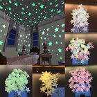Glow In The Dark Star Wall Stickers 100Pcs Star Moon Luminous Kids Room Decor