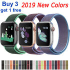 For Apple Watch Series 4/3/2/1 Nylon Sports Loop iWatch Band Strap 38/40/42/44mm