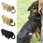 Tactical K9 Dog Training Military Police Molle Vest Nylon Service Canine Harness