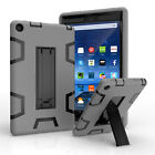 "For Amazon Kindle Fire 7"" 2015/HD 8"" 2016 Heavy Duty Hybrid KickStand Case Cover"