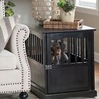 Внешний вид - End Table Dog Crate Pet Kennel Cage Indoor Wooden Furniture Wood Black House Lot