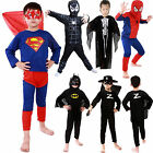 Halloween Costume Party Cosplay Suit Kids Boys Spiderman Superman Fancy Dress US
