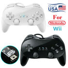 Wired Classic Controller Pro Gamepad for Wii Remote Console Video Game Pro