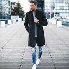 Fashion Men Wool Coat Winter Trench Coat Outwear Overcoat Long Sleeve Jacket USA <br/> US SELLER ❤ BEST QUALITY ❤ FAST DELIVERY ❤ Easy Return