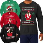 Внешний вид - Hip Hop Fan Ugly Christmas Sweater Funny Snoop Kanye Biggie Rap Humor Sweatshirt