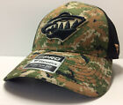 Minnesota Wild Fanatics NHL Veterans Day Salute To Service Camo Stretch Cap Hat $12.0 USD on eBay