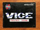 Vice Project Doom NES Nintendo Instruction Manual Only