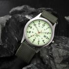 Men Military Army Green Analog Digital Quartz Nylon Canvas Wrist Watch Sport US image