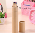 New Art Box 12 Colors Pencils With Sharpener Painting Wooden Crafts