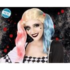 Wig Suicide Squad Harley Quinn Pink Blue Hair Gradient for Cosplay Fancy