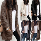 Women's Soft Sweater Long Sleeve Cardigan Wool wear Jumper Outwear Coat Jacket
