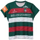 Leicester Tigers Home Replica Jersey 2018/19 Green/Red/White Junior Kids Kukri