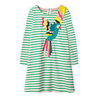 Toddler Kids Girls Striped Long Sleeve T shirt Party Casual Tunic Dress Clothes