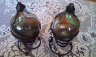 Beautiful (Set Of 2) Hand Blown Glass Oil Difusers With Stands