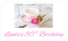 PERSONALISED STICKERS LABELS ADDRESS PARTY BAGS SWEET AFTERNOON TEA CAKE PARTY