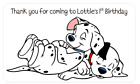 PERSONALISED STICKERS LABELS ADDRESS PARTY BAGS SWEET 101 DALMATIAN DISNEY DOG