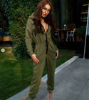 Fashion Women Casual Sports Long Club Party Zip UP Jumpsuits Rompers Trousers US