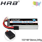 HRB 6000mAh 14.8V 50C 100C 4S RC LiPo Battery TRXXAS For F550 600 Quad Car Plane