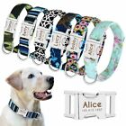 Personalized Dog Collar Custom Engraved Name Adjustable Collars for Dogs S L