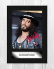 Russell Brand (1) A4 signed mounted photograph poster. Choice of frame.