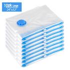 1-25Pc Vacuum Storage Bags Space Saver Hoover Compression for Travel Triple Seal