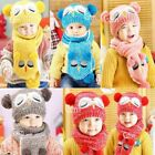 UK Fashion Baby Boy Girl Children Winter Cap Knitted Warm Hat and Scarf Set Hot