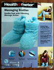 Warm Soft Health O Meter Massaging Booties Slippers Blue Great for Older Folks