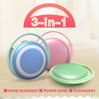 3in1 Pocket Hand Warmer Heater Electric Rechargeable 5000mAh Power USB Charger