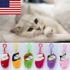 US Lifelike Kid Toys Cute Plush Cat Soft Doll Lifelike Simulation Sound Toys