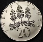 Jamaica 20 Cents, 1972 Gem Matte Unc~RARE~Mahoe Trees~Only 7,982 Minted~Free Shi