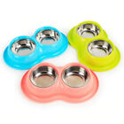 Anti Ant Pet Double Bowl Stainless Steel Water Food for Cat Small Dog Feeding