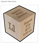 Personalized Baby Wood Cube Block Birthday Christmas Present Baby shower Gift