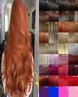 Clip in Hair Extension real Human Feel Black Brown Blonde Red Highlight Ginger