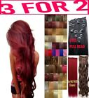 Hair Extensions Clip in real Human Feel Lilac Burgundy Plum Dark Red Coppers Ash