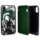 Michigan State Spartans Paulson Designs Spirit Hybrid Case for iPhone X/Xs with