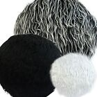 Flat Round Shape Cover*Faux Fur Skin Curly Floor Seat Chair Cushion Case*Fs2