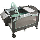 Baby Deluxe Playard Traveling Setup Plush Bassinet Changer Playpin Pack and Play
