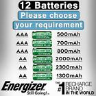 Energizer AA AAA Rechargeable Batteries 2000mAh 800mAh 2300mAh Pre Charged Ni-MH <br/> ✅500 700 800 2000 2300 1300 mAh ✅ Rechargeable Battery✅