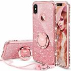 iPhone X 10 Case Cover For Girl Women Ring Kickstand Amazing Style Diamond Pink