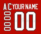 Olympic Hockey 2010 Team Canada Red Jersey Customized Number Kits un stitched