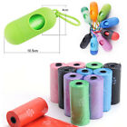 Practical Dispenser For Pet Dog Cat Poop Scoop Waste Bags Roll Holder with Bags