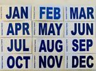 California License Plate dmv Month tag and sticker
