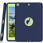 For Apple iPad 6th Generation 9.7' Tough Rubber Heavy Shockproof Hard Case Cover