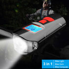 Multifunctional Bicycle Light USB Rechargeable Bike Computer With Electric Horn~