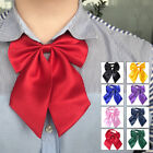 New Women Fashion Bow Tie Neckwear Party Banquet Solid Color Adjustable Necktie