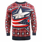 NHL Columbus Blue Jackets 2018 Big Logo Christmas Jumper Mens Fanatics $32.26 USD on eBay
