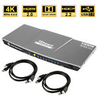 TESmart Ultra HD 4 Port KVM Switch HDMI Audio Switcher 4K@60Hz HDCP 2.2