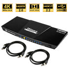 4 Port 4K HDMI KVM Switch HDMI with Audio HDR USB 2.0 Auto-Scan
