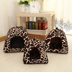 Washable Pet Dog Cat Puppy Cave House Cushion Home Bed Soft Cute Strawberry Shap