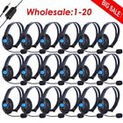 5x/10x/20x Wired Gaming Headset Stereo Headphone earphone w/ Mic For Sony LOT EK
